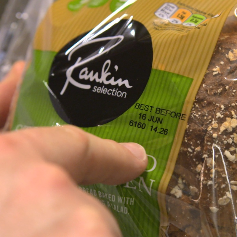 coding onto flexible packaging in bakery