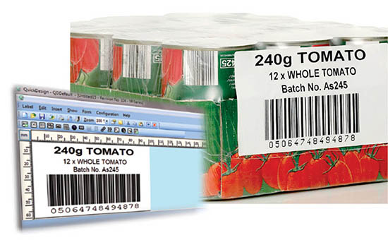Domino QuickDesign creating labels for secondary packaging