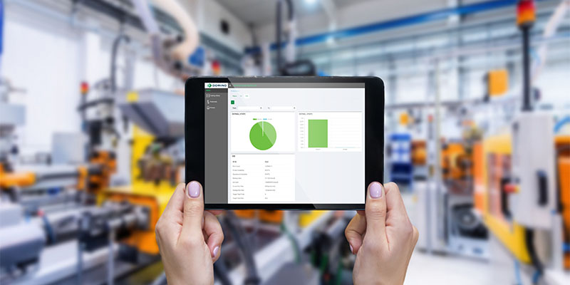 Domino industry 4.0 factory and cloud tablet