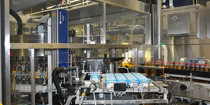 Domino D-Series CO2 Lasers in Mineral Water Factory
