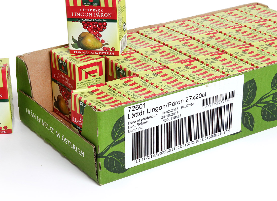 thermal print and apply labelling on beverage boxes