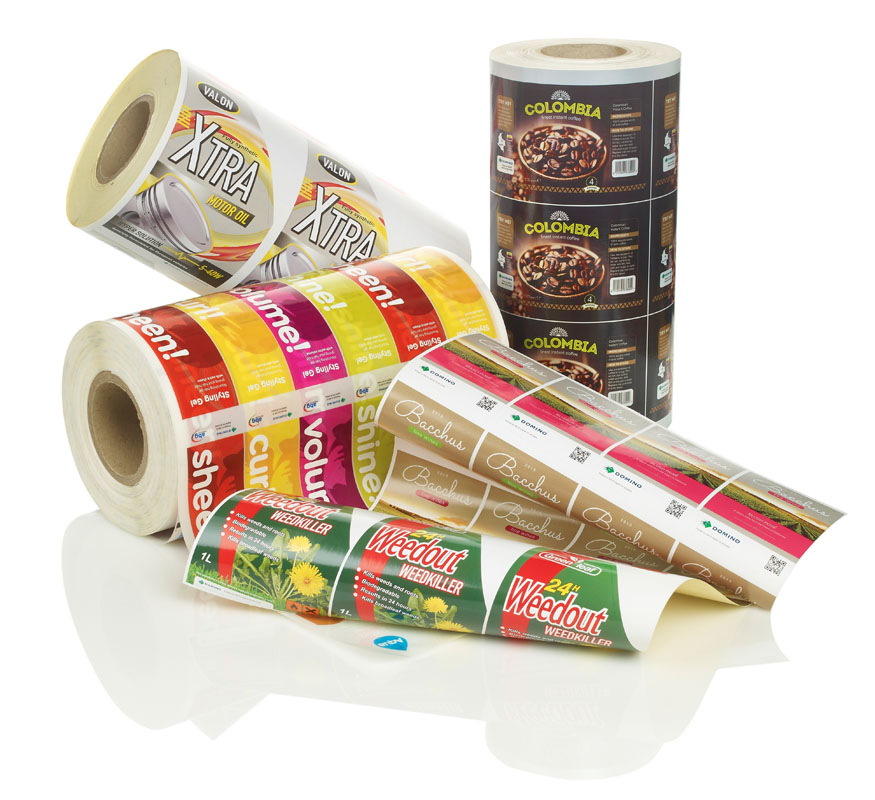 Ink jet digital printing labels