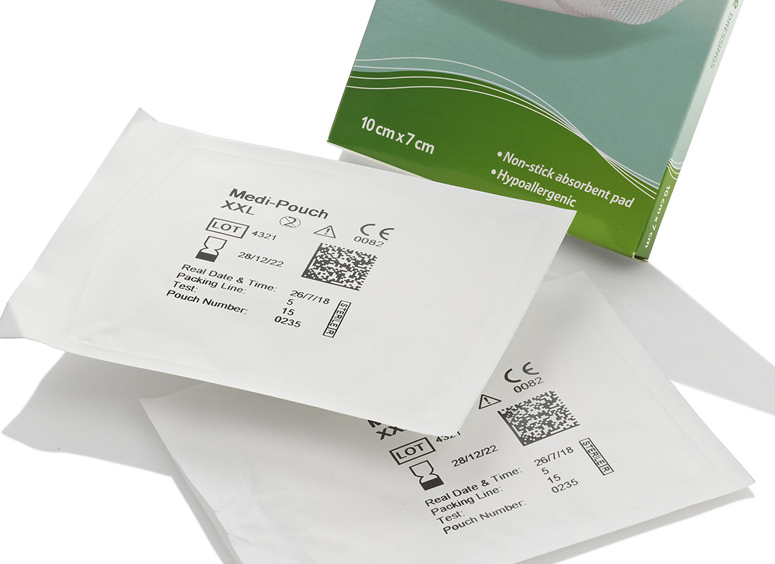 thermal transfer labelling on phamaceutical pouch
