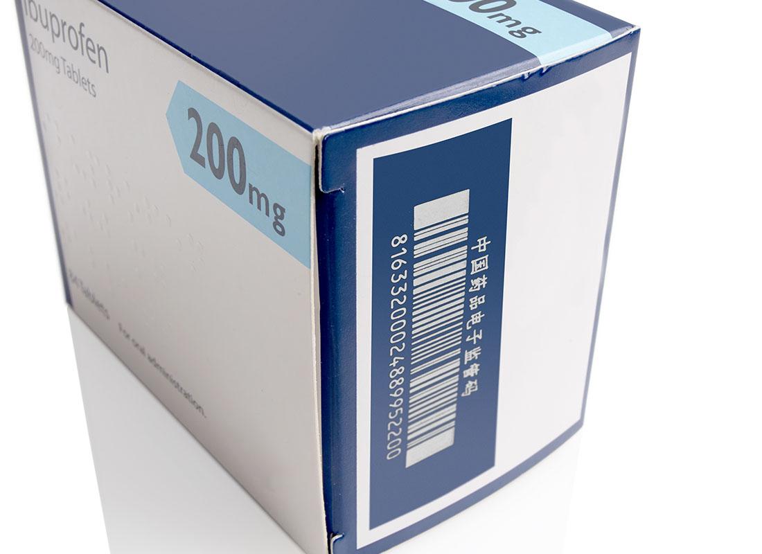 bar code on pharmaceutical packet