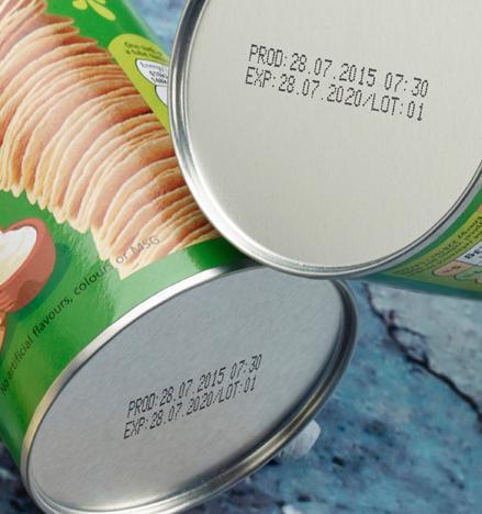 Food batch code sample