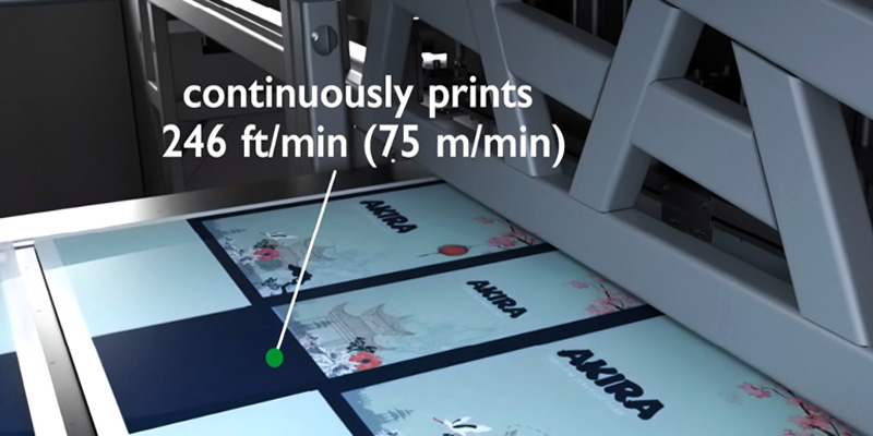 X630i continuosly prints 246 ft/min (75 m/min)