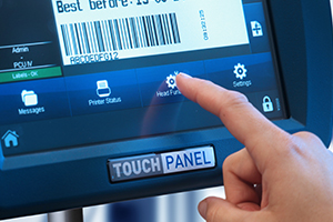 M-Series TouchPanel used with the Domino M230i-CW & CWR