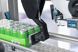 M230i-S & SP labelling a crate of beverage cans